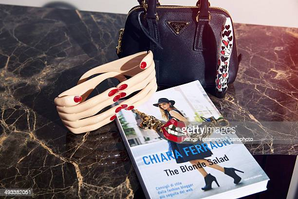 109232004 Fashion designer Chiara Ferragni's style inspirations are photographed for Madame Figaro on February 28 2014 in Paris France Her book...