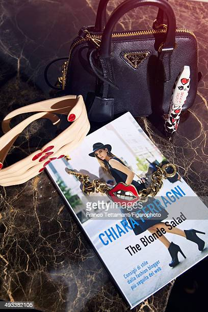 109232009 Fashion designer Chiara Ferragni's style inspirations are photographed for Madame Figaro on February 28 2014 in Paris France Her book...