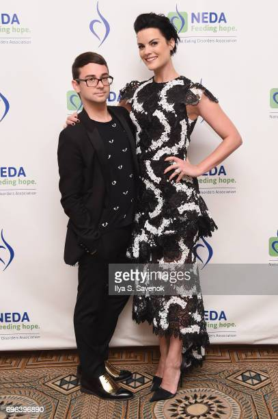 Fashion Designer Christian Siriano and Actress Jaimie Alexander attend the 15th Annual Benefit Gala 'An Evening Unmasking Eating Disorders