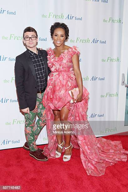 Fashion designer Christian Siriano and celebrity stylist June Ambrose attend the Fresh Air Fund 140th Birthday Celebration and 2016 Spring Benefit at...