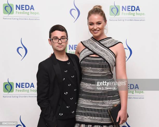 Fashion Designer Christian Siriano and Iskra Lawrence attend the 15th Annual Benefit Gala 'An Evening Unmasking Eating Disorders
