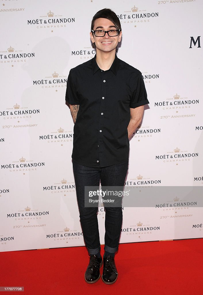Fashion designer Christian Siriano attends Moet & Chandon Celebrates Its 270th Anniversary With New Global Brand Ambassador, International Tennis Champion, Roger Federer at Chelsea Piers Sports Center on August 20, 2013 in New York City.