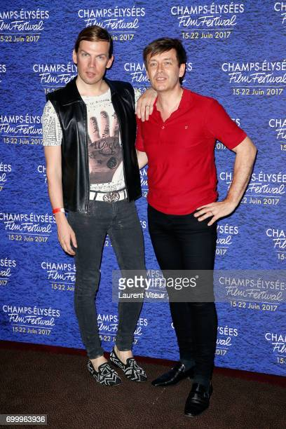 Fashion Designer Christophe Guillarme and his husband Thierry Marsaux attend Closing Ceremony of 6th Champs Elysees Film Festival on June 22 2017 in...