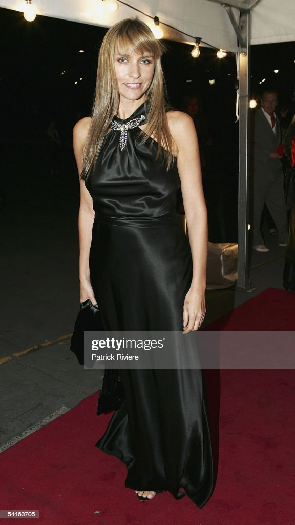 Fashion designer Collette Dinnigan arrives at 'The Mother Of All Balls' at the Hordern Paviliosn on August 3 2005 in Sydney Australia 'The Mother of...