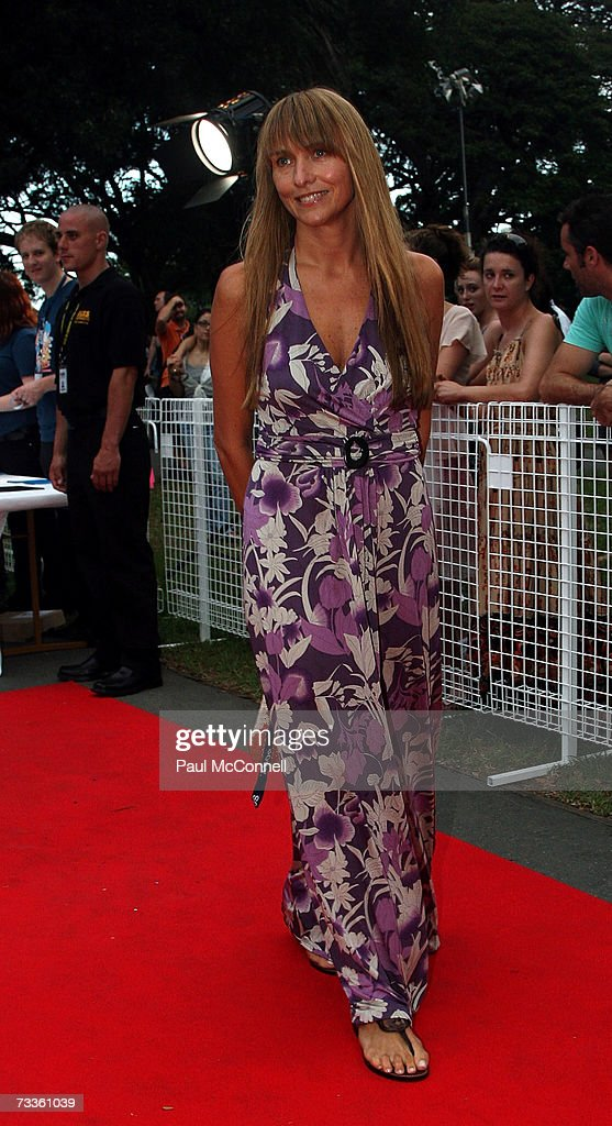 Fashion designer Collette Dinnigan arrives at the Sony Tropfest 2007 short film festival at The Domain on February 18 2007 in Sydney Australia