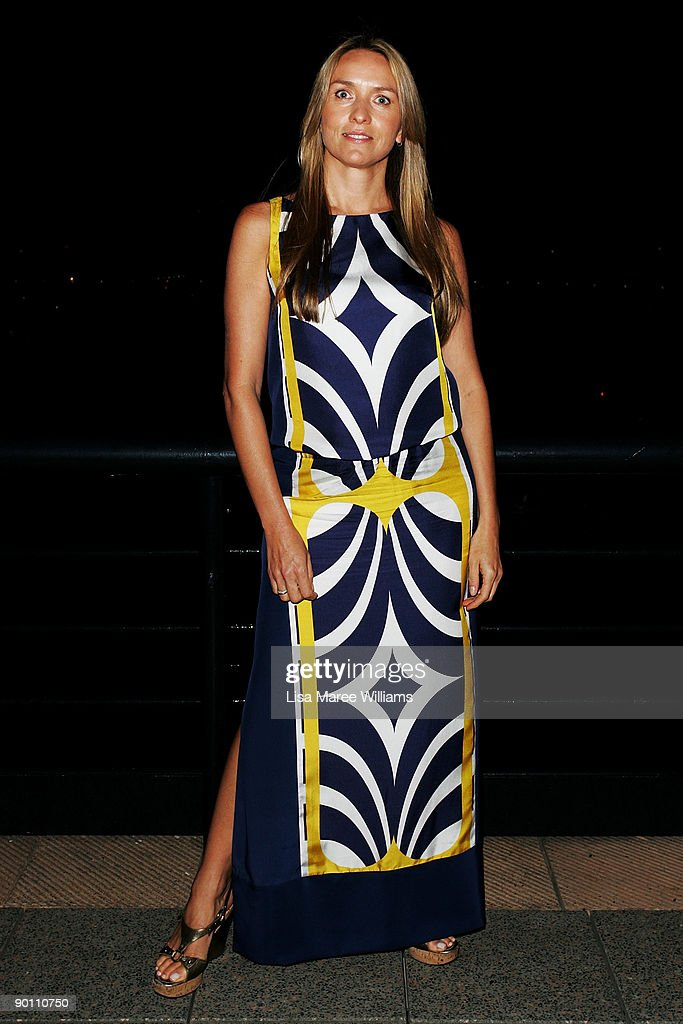 Fashion designer Collette Dinnigan attends the ACP Magazine's '30 Days Of Fashion' VIP Dinner at Quay restaurant on August 27 2009 in Sydney Australia