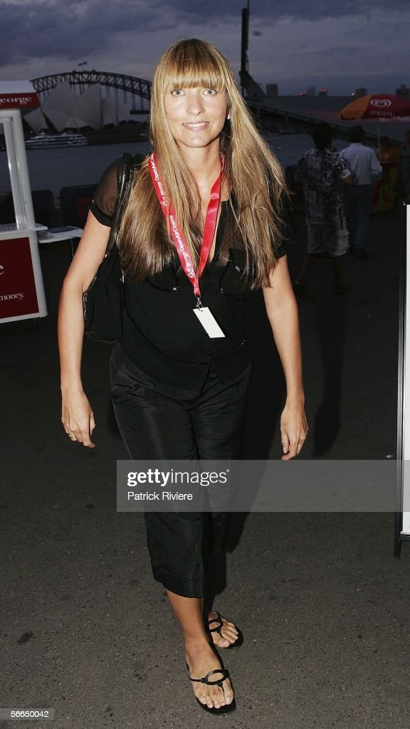 Fashion Designer Collette Dinnigan attends the Australian premiere of 'Walk The Line' at the St George OpenAir Cinema on January 23 2006 in Sydney...