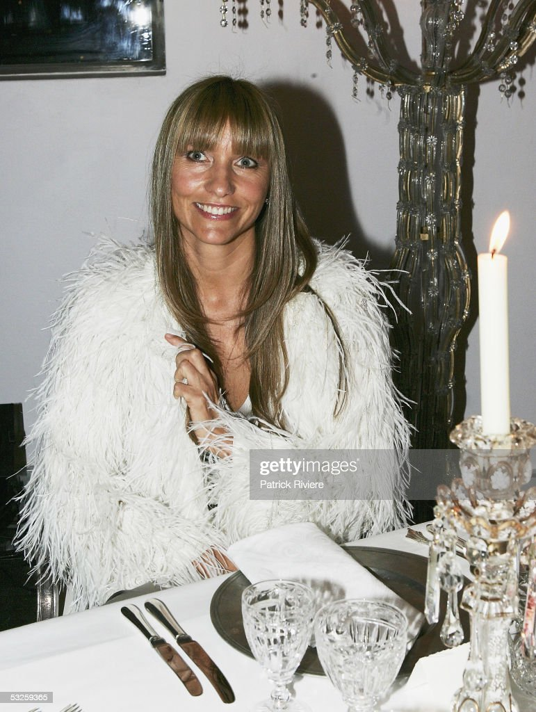 Fashion designer Collette Dinnigan attends the launch of the Nokia 880 table design at the Museum of Contemporary Art on July 19 2005 in Sydney...