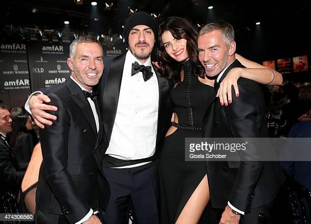Fashion designer Dan Caten donor Gabriele Moratti model Isabeli Fontana and fashion designer Dean Caten attend amfAR's 22nd Cinema Against AIDS Gala...