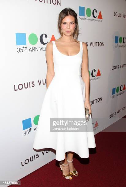 Fashion designer Dasha Zhukova attends MOCA's 35th Anniversary Gala presented by Louis Vuitton at The Geffen Contemporary at MOCA on March 29 2014 in...