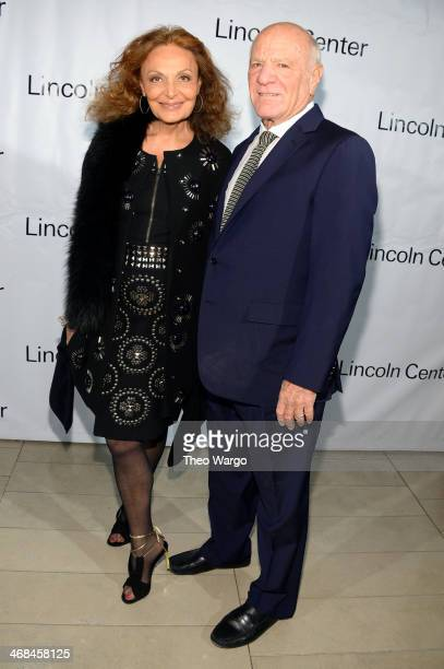 Fashion designer Diane von Furstenberg and Barry Diller attend the Great American Songbook event honoring Bryan Lourd at Alice Tully Hall on February...