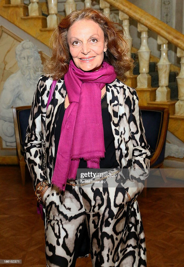 Fashion designer Diane von Furstenberg attends the 2013 WWD Apparel And Retail CEO Summit Dinner at The Pierre Hotel on October 28, 2013 in New York City.