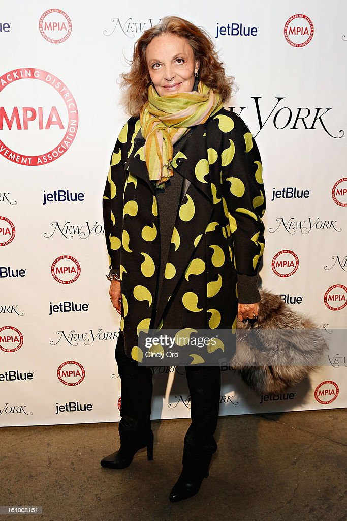 Fashion designer Diane von Furstenberg attends the Meatpacking District Improvement Association first annual fundraiser OPEN MARKET at Highline Stages on March 18, 2013 in New York City.