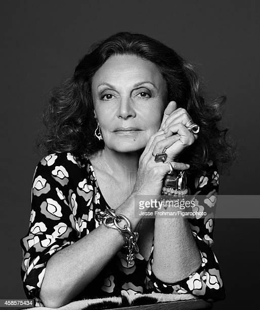 Fashion designer Diane von Furstenberg is photographed for Madame Figaro on October 2 2014 in New York City PUBLISHED IMAGE CREDIT MUST READ Jesse...