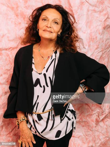 Fashion designer Diane von Furstenberg poses for a portrait during the Daily Front Row's Fashion Media Awards at Four Seasons Hotel New York Downtown...