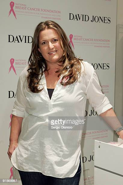 Fashion designer Donna Hay attends the inaugural David Jones National Breast Cancer Foundation Donation Day at the David Jones Elizabeth Street...