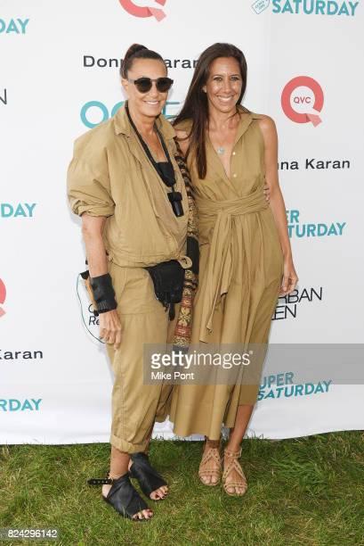 Fashion designer Donna Karan and Gabby Karan de Felice attend OCRFA's 20th Annual Super Saturday to Benefit Ovarian Cancer on July 29 2017 in...