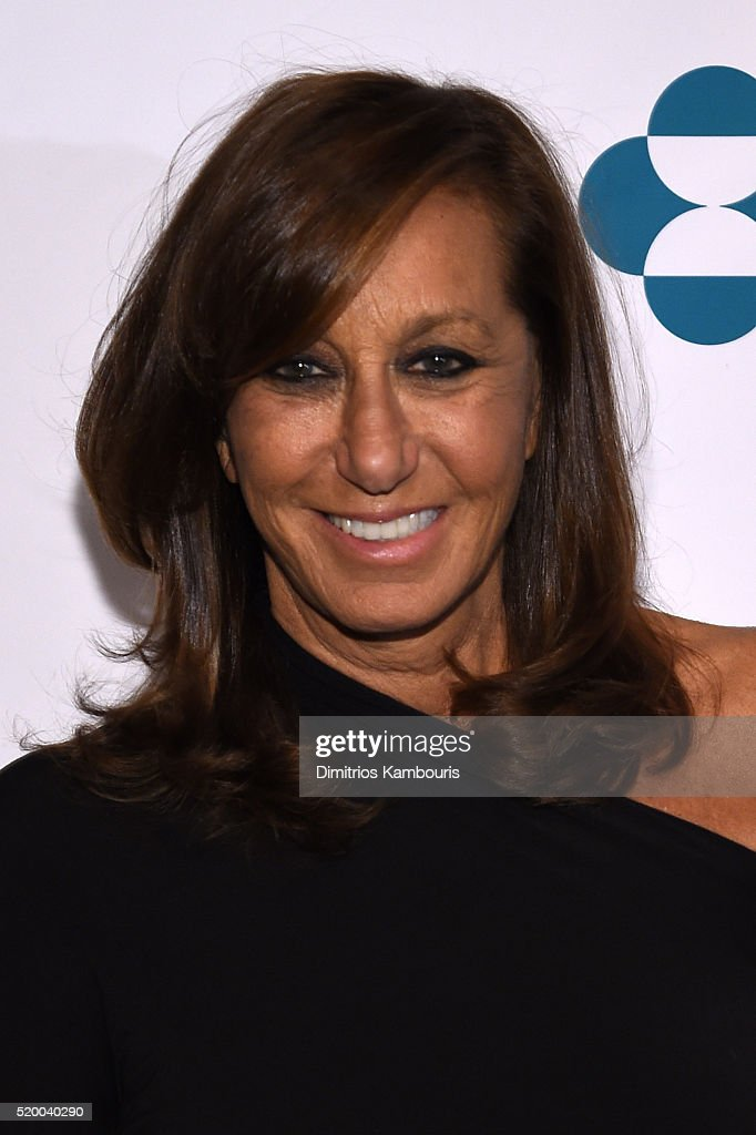 Fashion Designer <a gi-track='captionPersonalityLinkClicked' href=/galleries/search?phrase=Donna+Karan+-+Fashion+Designer&family=editorial&specificpeople=4206478 ng-click='$event.stopPropagation()'>Donna Karan</a> attends Stand Up To Cancer's New York Standing Room Only, presented by Entertainment Industry Foundation, with donors American Airlines and Merck, chaired by Jim Toth, Reese Witherspoon & MasterCard President/CEO Ajay Banga and his wife Ritu, honoring Katie Couric at Cipriani Wall Street on April 9, 2016 in New York City.