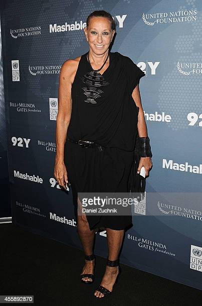 Fashion Designer Donna Karan attends the 2014 Social Good Summit at 92Y on September 21 2014 in New York City