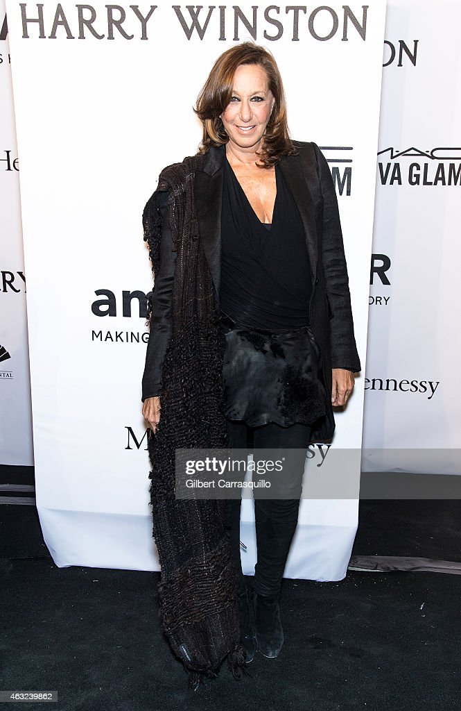 Fashion designer <a gi-track='captionPersonalityLinkClicked' href=/galleries/search?phrase=Donna+Karan+-+Fashion+Designer&family=editorial&specificpeople=4206478 ng-click='$event.stopPropagation()'>Donna Karan</a> attends the 2015 amfAR New York Gala at Cipriani Wall Street on February 11, 2015 in New York City.