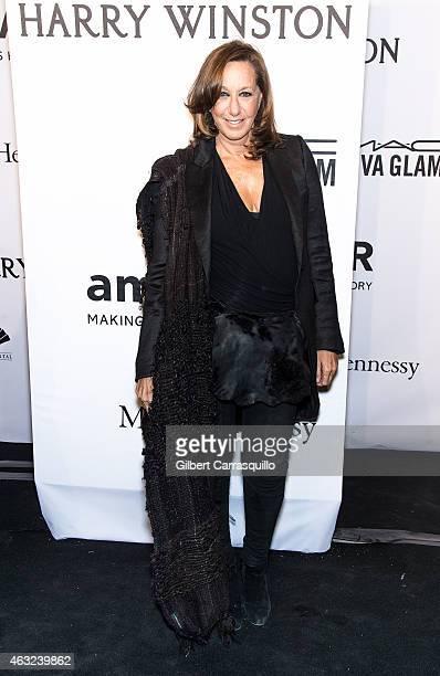 Fashion designer Donna Karan attends the 2015 amfAR New York Gala at Cipriani Wall Street on February 11 2015 in New York City