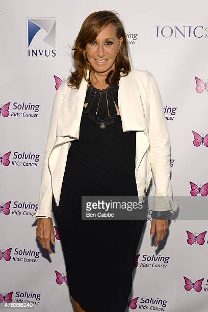 Fashion designer Donna Karan attends the 6th Annual Solving Kids Cancer Spring Celebration at 583 Park Avenue on June 8 2015 in New York City