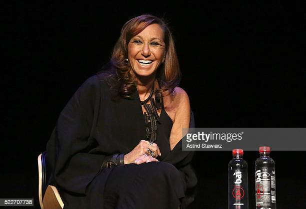Fashion designer Donna Karan attends the Tribeca Daring Women Summit during the 2016 Tribeca Film Festival at Spring Studios on April 19 2016 in New...