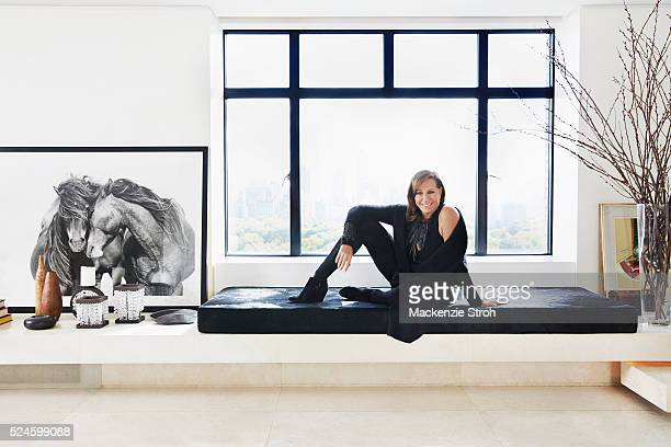 Fashion designer Donna Karan is photographed for Wall Street Journal on October 5 2015 in New York City