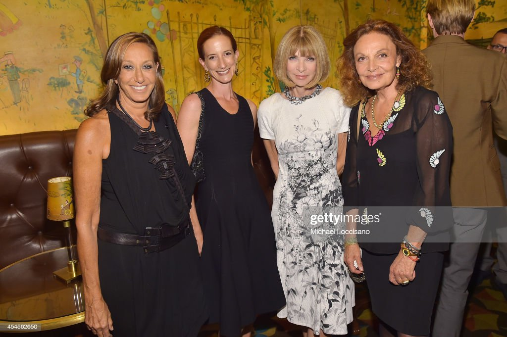 Fashion designer Donna Karan New York Times Fashion Director Vanessa Friedman EditorinChief of Vogue Anna Wintour and fashion designer Diane von...