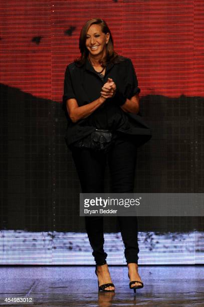 Fashion Designer Donna Karan walks the runway at the Donna Karan New York 30th Anniversary fashion show during MercedesBenz Fashion Week Spring 2015...