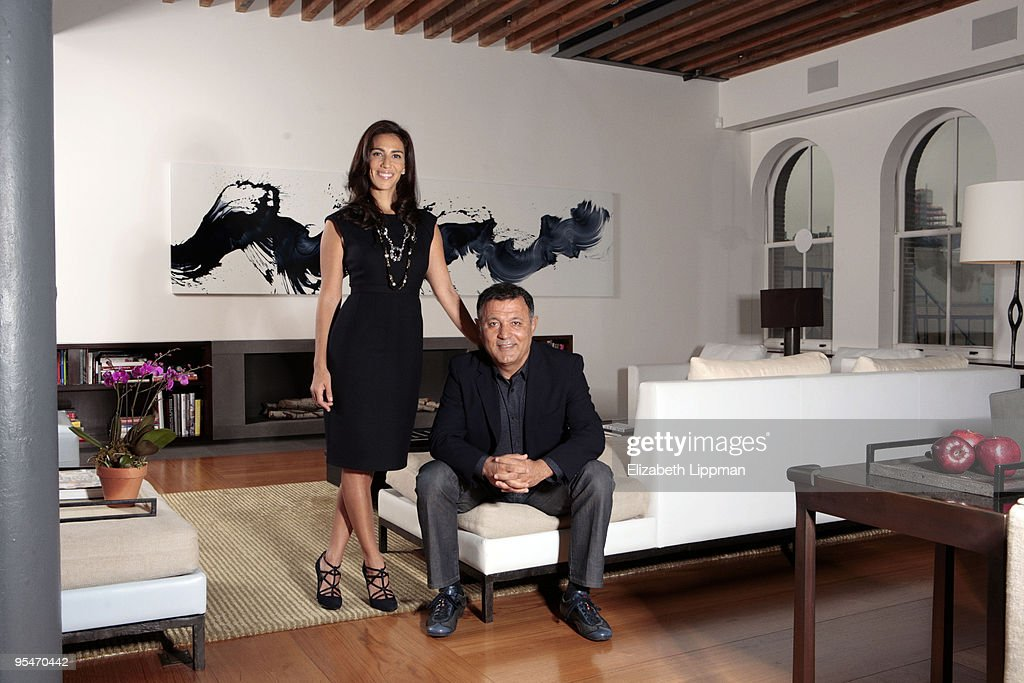 Fashion Designer Elie Tahari And Wife Rory At Their Home In New York City