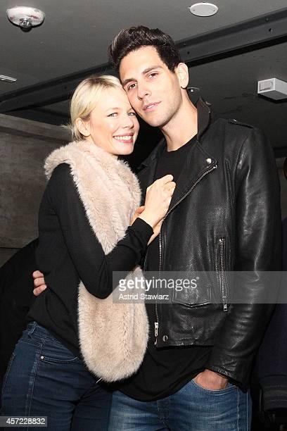 Fashion designer Erin Fetherston and musician Gabe Saporta of Cobra Starship attend Johnnie Walker's toast of the launch of Gold Label Reserve The...