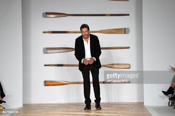 Fashion designer Filippo Scuffi walks the runway at the DAKS show during London Fashion Week September 2017 on September 15 2017 in London England