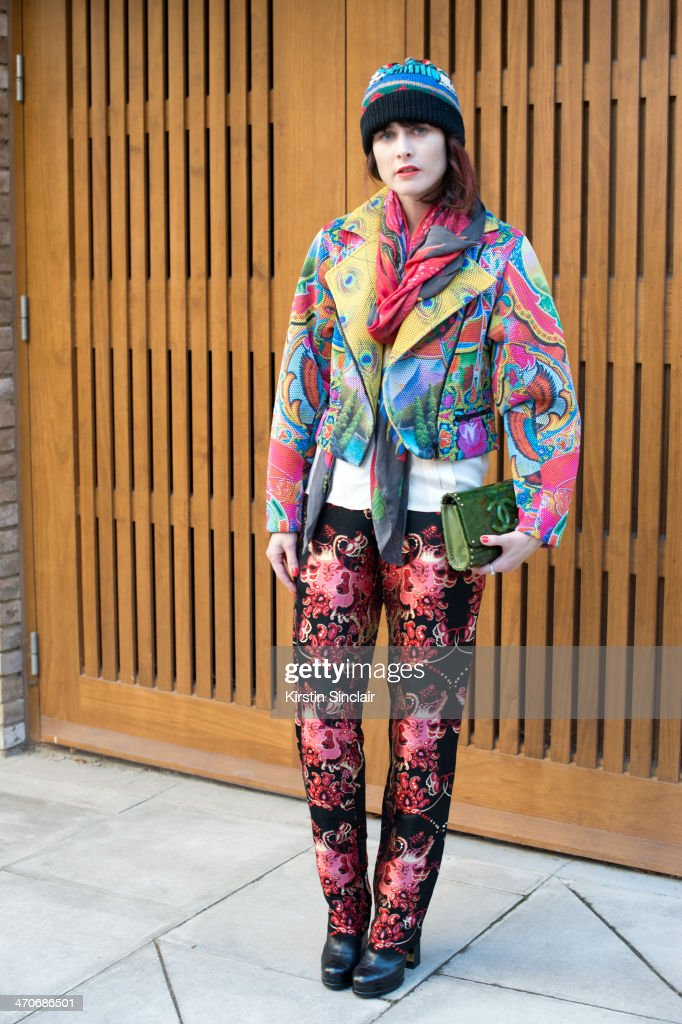 Fashion Designer for Romance was born Anna Plunkett wears Chanel bag and shoes Jenny Kee hat and scarf and everything else Romance was Born on day 3...