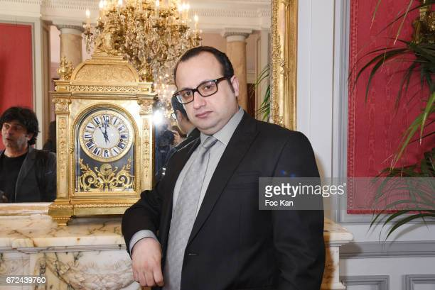 Fashion designer Georges Bedran attends Opera Singer Fabrice Rosalie Di Falco Receives the Chevalier de L'Ordre National de La legion D'Honneur at...