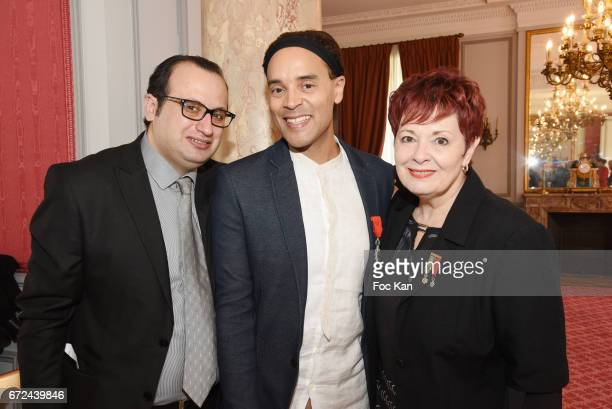 Fashion designer Georges Bedran Counter tenor Opera Singer Fabrice Di Falco and composer/singer Fabienne Thibeault attend Opera Singer Fabrice...