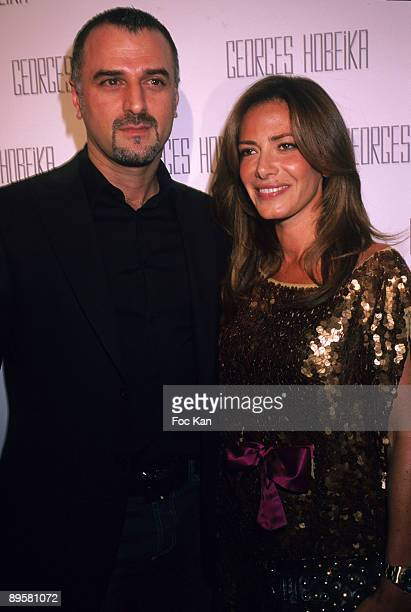 Fashion designer Georges Hobeika and TV chronicler Elsa Fayer attend the Georges Hobeika Paris Fashion Week Haute Couture A/W 2009/10 at the Hotel...