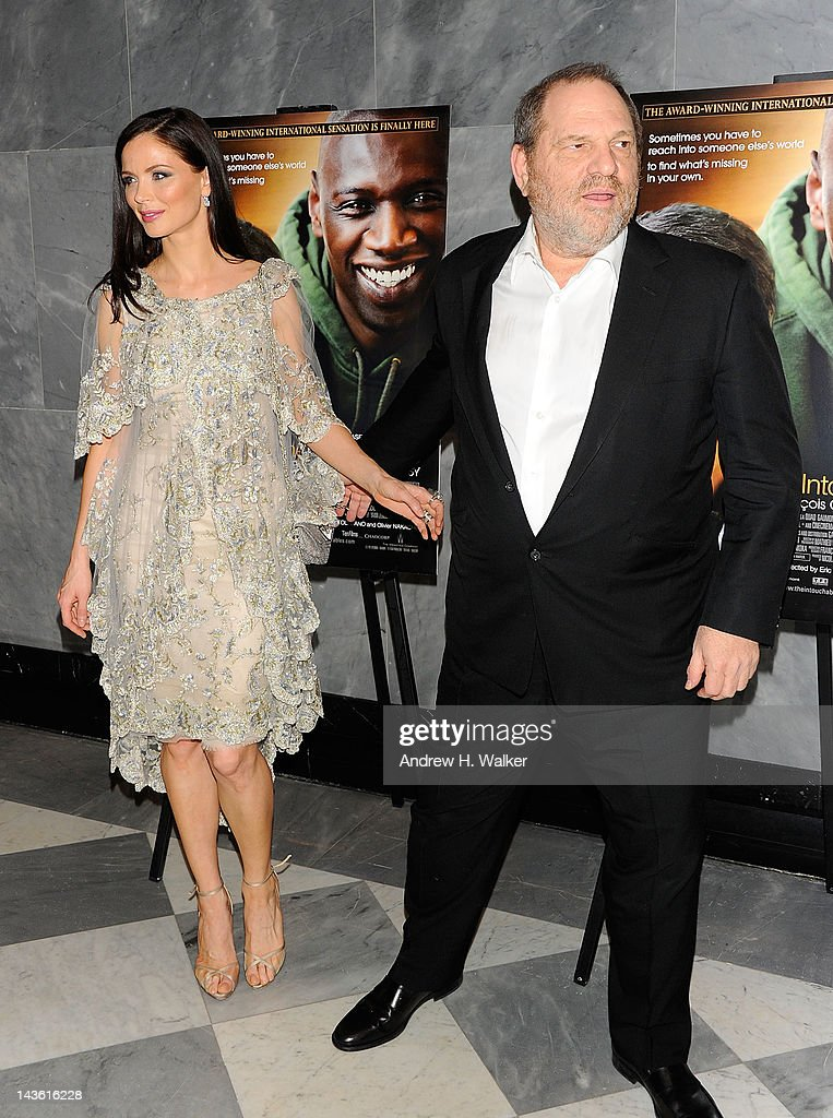 Fashion designer Georgina Chapman and producer <a gi-track='captionPersonalityLinkClicked' href=/galleries/search?phrase=Harvey+Weinstein&family=editorial&specificpeople=201749 ng-click='$event.stopPropagation()'>Harvey Weinstein</a> attend a screening of 'The Intouchables' at The Paley Center for Media on April 30, 2012 in New York City.