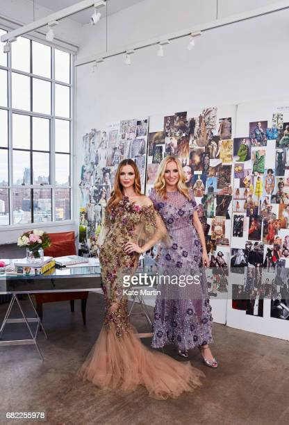 Fashion designer Georgina Chapman with Keren Craig cofounders of Marchesa are photographed for Hello magazine on October 28 2016 in New York City