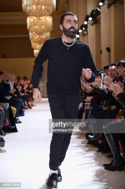 Fashion designer Giambattista Valli walks the runway during the Giambattista Valli Paris show as part of the Paris Fashion Week Womenswear...