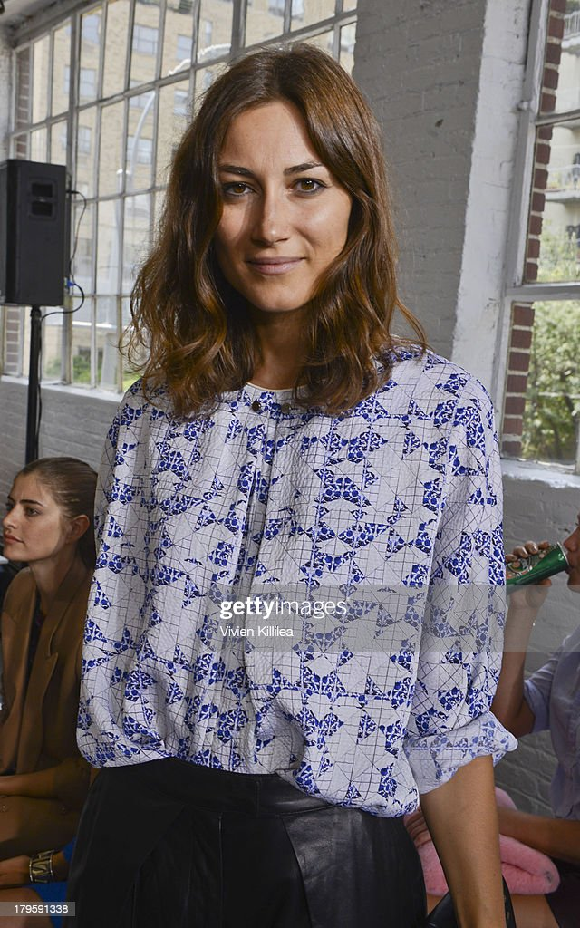 Fashion designer Giorgia Tordini attends the Tanya Taylor fashion show during Mercedes-Benz Fashion Week Spring 2014 at Industria Studios on September 5, 2013 in New York City.