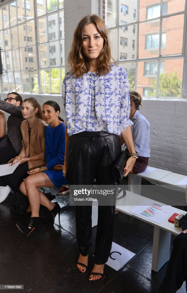 Fashion designer Giorgia Tordini attends the Tanya Taylor fashion show during MercedesBenz Fashion Week Spring 2014 at Industria Studios on September...