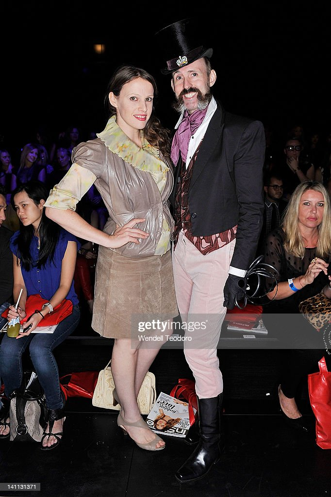 Fashion designer Gwendolynne Burkin and Milliner Richard Nylon attends the L'Oreal Paris Runway 2 show on day three of the 2012 L'Oreal Melbourne Fashion Festival on March 10, 2012 in Melbourne, Australia.