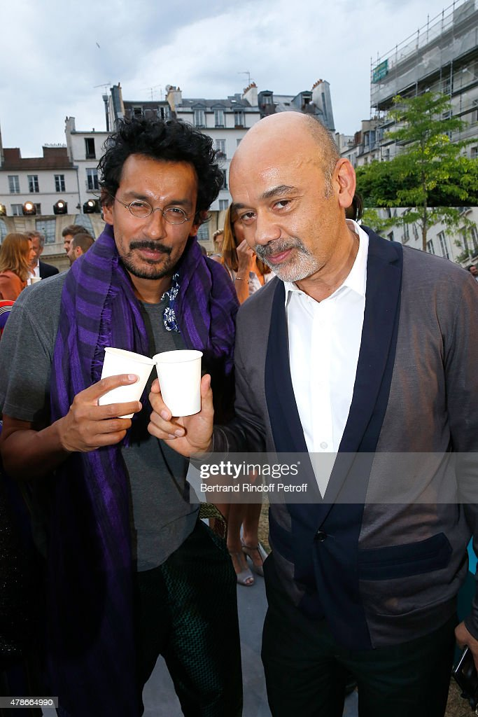 Fashion Designer <a gi-track='captionPersonalityLinkClicked' href=/galleries/search?phrase=Haider+Ackermann+-+Fashion+Designer&family=editorial&specificpeople=10536159 ng-click='$event.stopPropagation()'>Haider Ackermann</a> and <a gi-track='captionPersonalityLinkClicked' href=/galleries/search?phrase=Christian+Louboutin+-+Fashion+Designer&family=editorial&specificpeople=4644509 ng-click='$event.stopPropagation()'>Christian Louboutin</a> attend the Berluti Menswear Spring/Summer 2016 show as part of Paris Fashion Week. Held at Musee Picasso on June 26, 2015 in Paris, France.