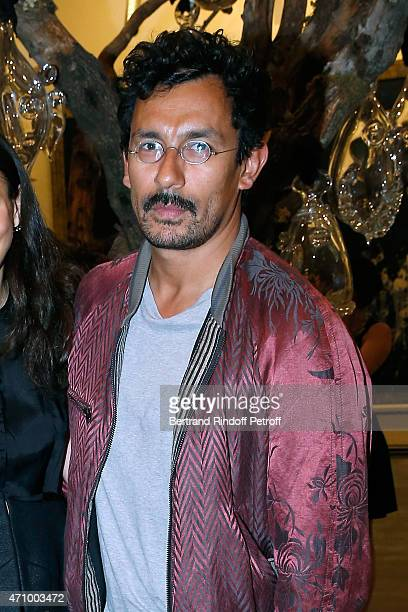 Fashion Designer Haider Ackermann attends the 'A Moment of Reconstruction' Informal Dinner and Concert held at VNH Gallery on April 24 2015 in Paris...