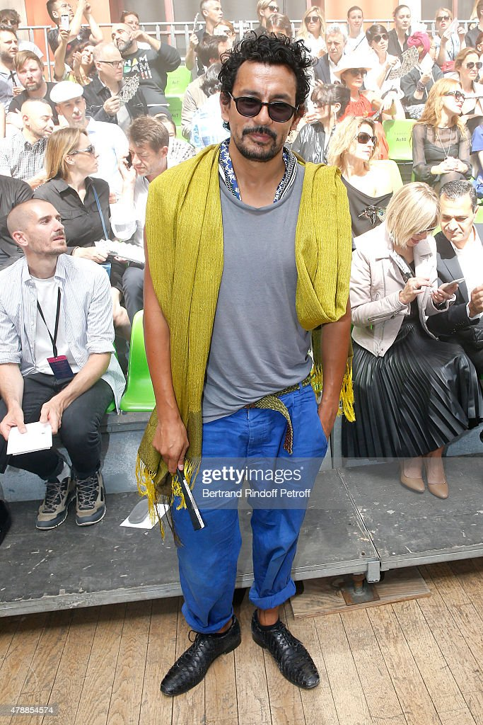 Fashion Designer Haider Ackermann attends the Lanvin Menswear Spring/Summer 2016 show as part of Paris Fashion Week. Held at 'Ecole Nationale Superieure des Beaux Arts' on June 28, 2015 in Paris, France.