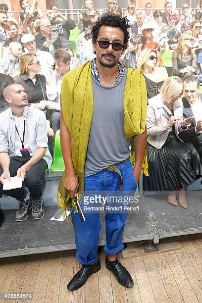 Fashion Designer Haider Ackermann attends the Lanvin Menswear Spring/Summer 2016 show as part of Paris Fashion Week Held at 'Ecole Nationale...