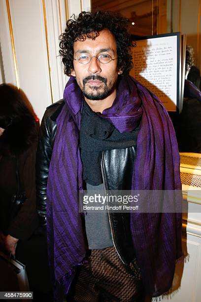 Fashion designer Haider Ackermann attends the 'Loulou de la Falaise' book signing Held at the Fondation 'Pierre Berge Yves Saint Laurent' on November...