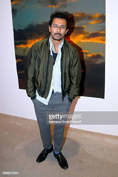 Fashion Designer Haider Ackermann attends the Private View of Dennis Hopper and 'Space Age' Exhibitions at Galerie Thaddaeus Ropac on October 21 2015...