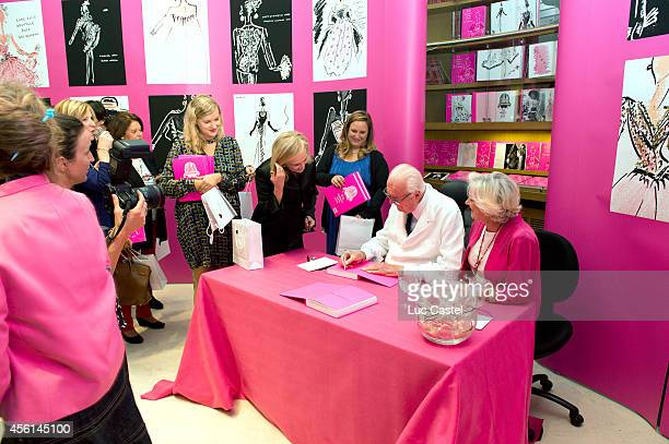 Fashion Designer Hubert De Givenchy signs his book 'To Audrey with Love' at Christie's as part of the Paris Fashion Week Womenswear Spring/Summer...